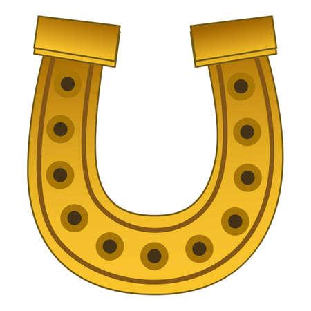 Horseshoe icon, cartoon style Stok Fotoğraf
