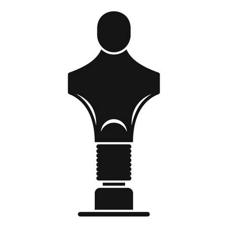 Sport mannequin icon, simple style Stok Fotoğraf