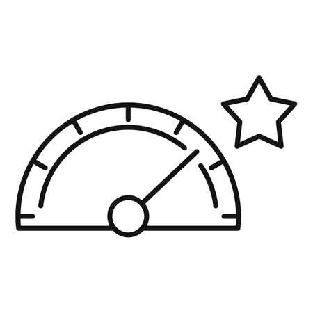 Seo speedometer icon, outline style