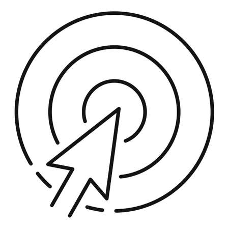Click seo target icon, outline style