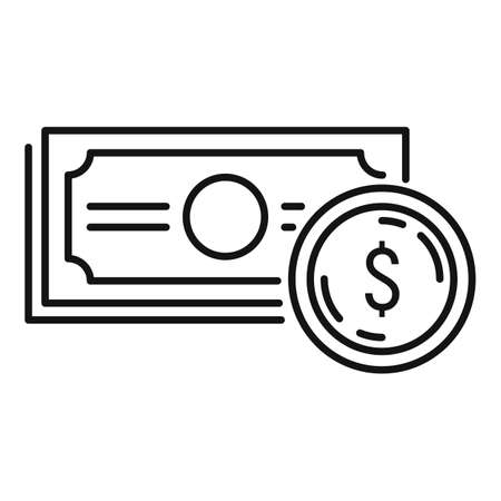 Money cash icon, outline style