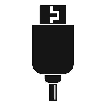 Phone usb cable icon, simple style