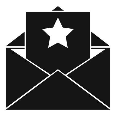 Vip person invitation icon, simple style