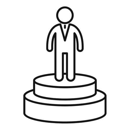 Celebrity actor podium icon, outline style