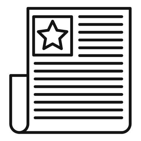 Vip invitation icon, outline style