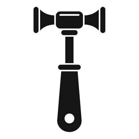 Chiropractor hammer icon, simple style