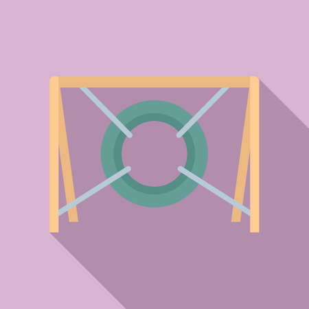 Dog tire obstacle icon, flat style 版權商用圖片