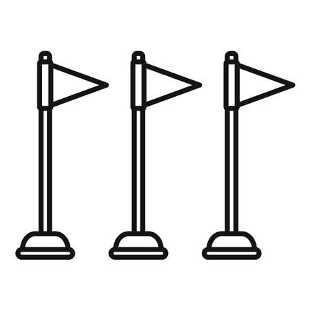 Dog training flags icon, outline style 版權商用圖片