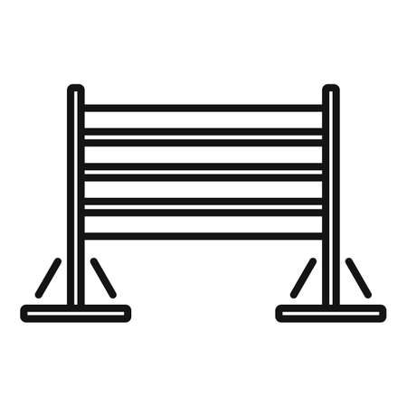 Dog training wood barrier icon, outline style