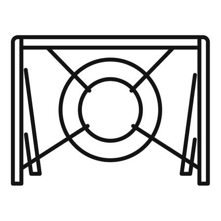 Dog tire obstacle icon, outline style