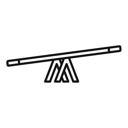Dog balance bar icon, outline style Stok Fotoğraf