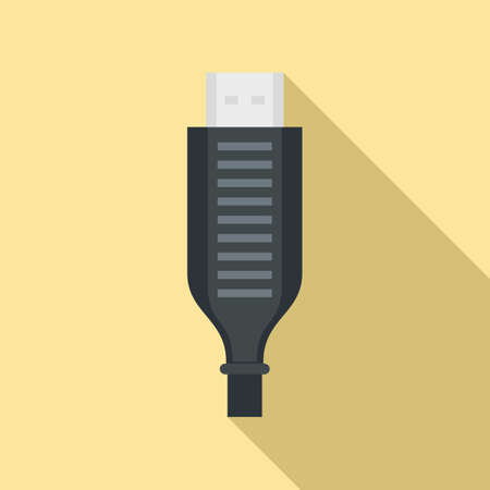 Adapter cable icon, flat style 免版税图像