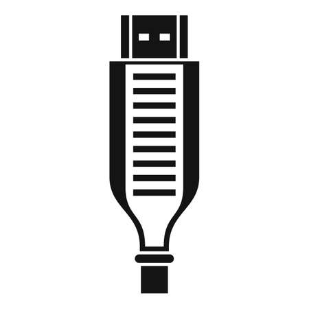 Adapter cable icon, simple style