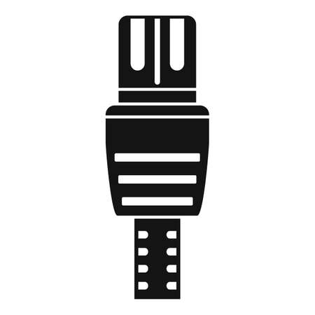 Lan cable icon, simple style