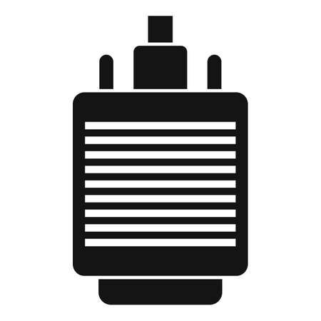 Vga adapter icon, simple style