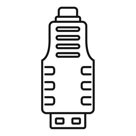 Micro usb adapter icon, outline style