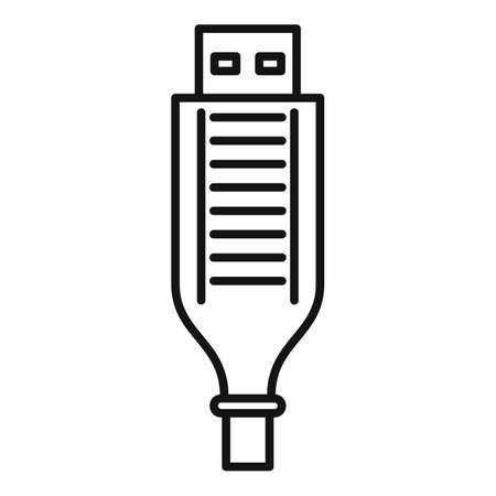 Adapter cable icon, outline style 免版税图像