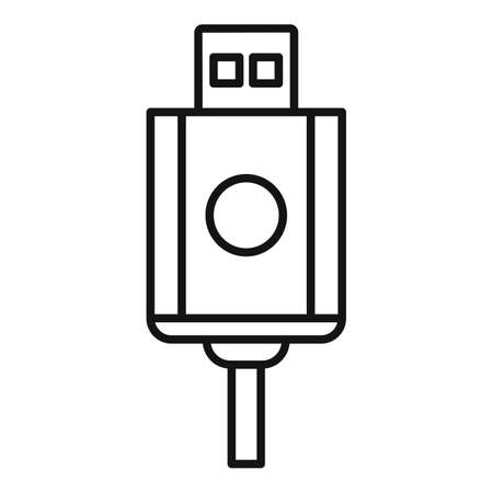 Usb cable icon, outline style