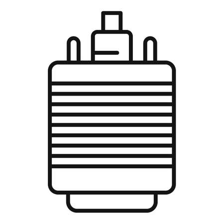 Vga adapter icon, outline style