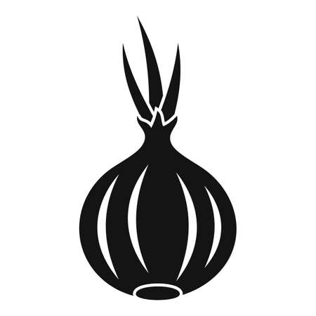 Onion icon, simple style
