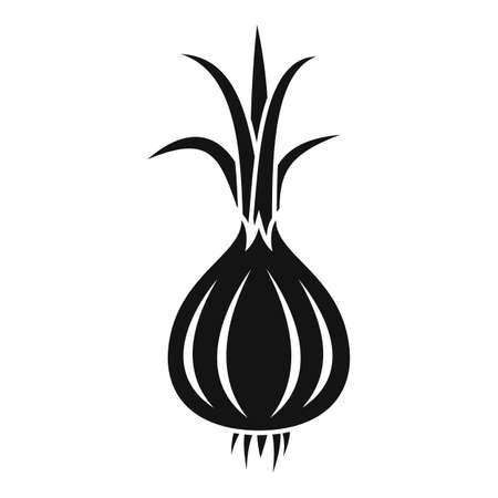 Raw onion icon, simple style