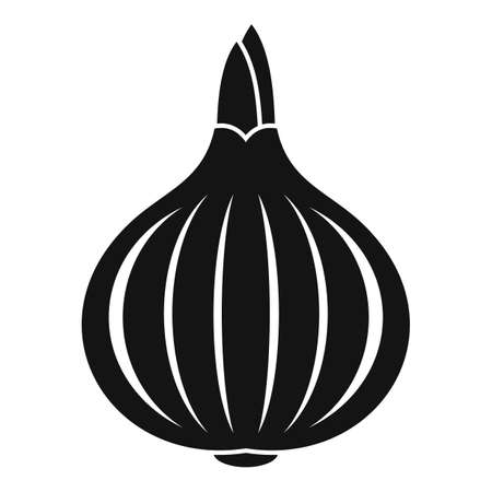 Vegetable onion icon, simple style