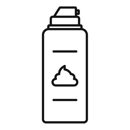 Razor shaving foam icon, outline style