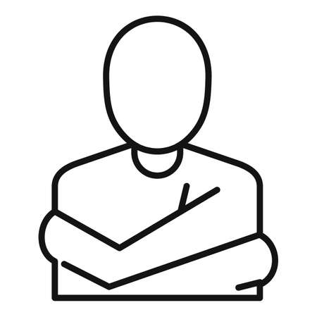 Mental disorder patient icon, outline style