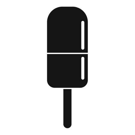 Ice cream summer beach icon, simple style