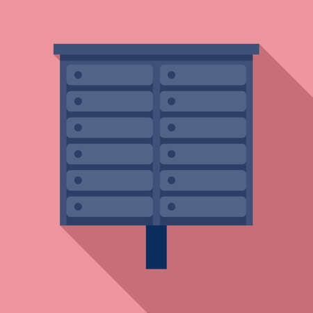 Apartment mailbox icon, flat style