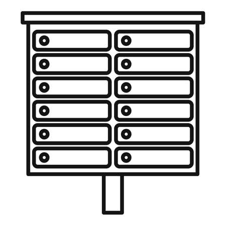 Apartment mailbox icon, outline style Stock fotó