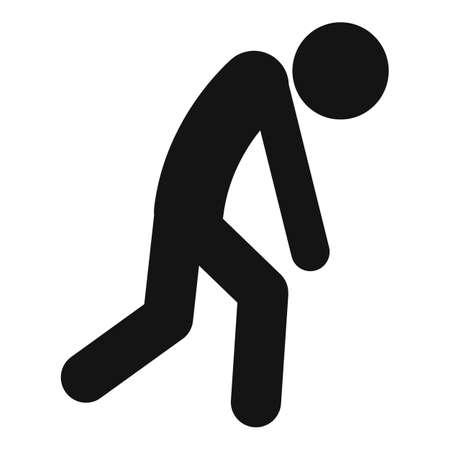 Depression man icon, simple style Фото со стока