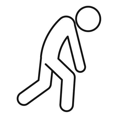 Depression man icon, outline style Фото со стока