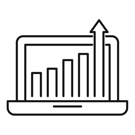 Startup grow up icon, outline style