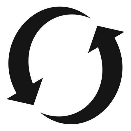 Plastic recycling icon, simple style
