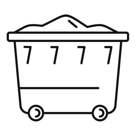 Garbage container icon, outline style 版權商用圖片