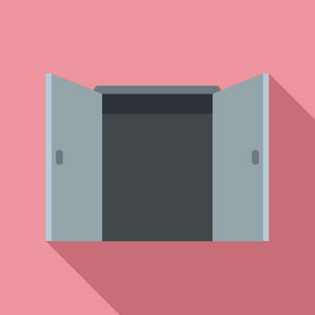Office entrance icon, flat style