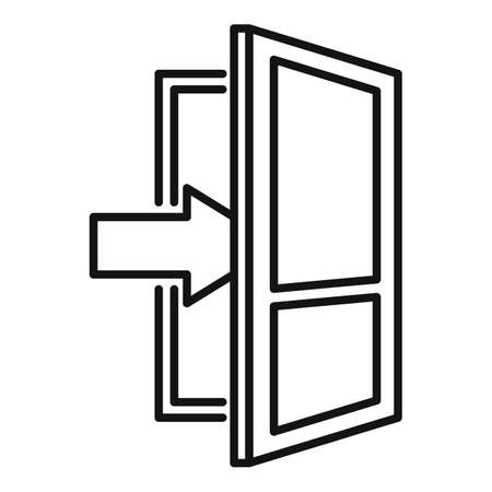 Living room entrance icon, outline style