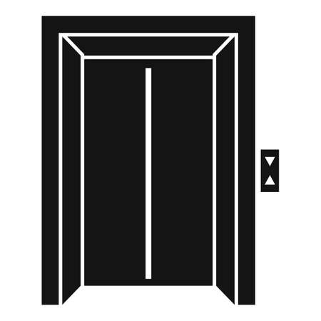 Bell elevator icon, simple style