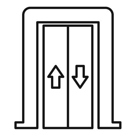 Bell elevator icon, outline style