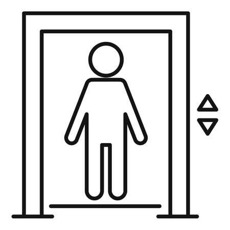 Kid elevator icon, outline style 免版税图像