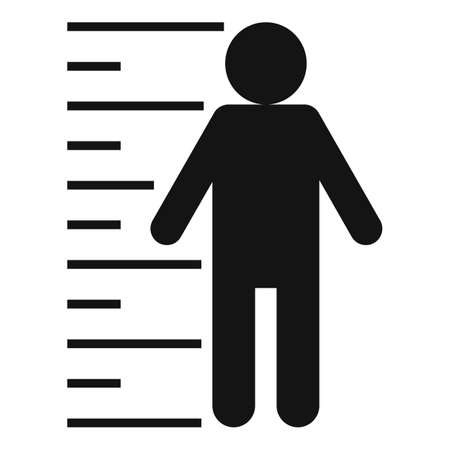 Criminal justice icon, simple style 版權商用圖片