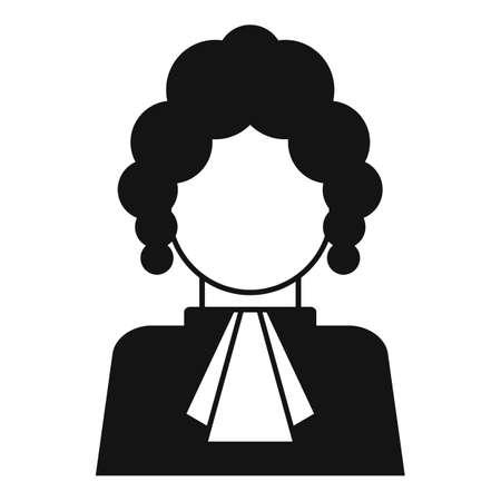 Judge person icon, simple style