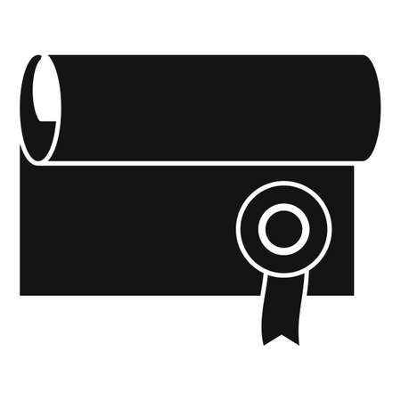 Justice diploma icon, simple style Stockfoto
