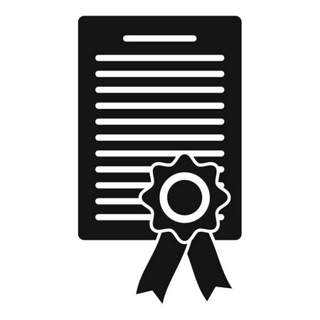 Lawyer diploma icon, simple style