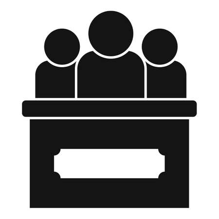 Law tribune icon, simple style Stockfoto