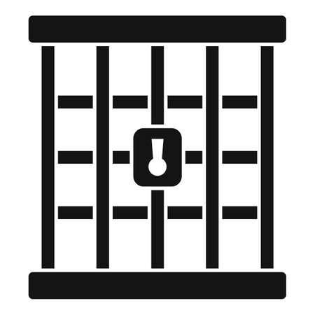 Prison gate icon, simple style