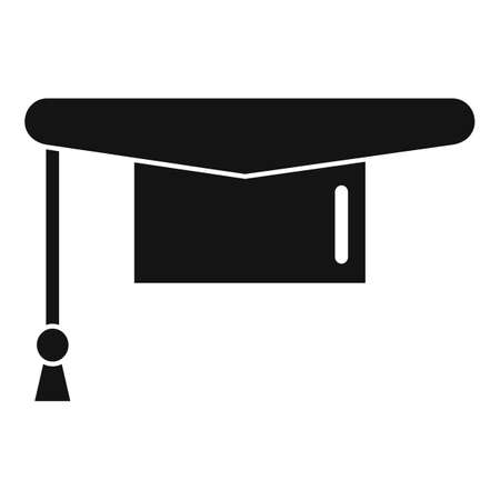 Graduated hat icon, simple style