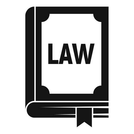 Law book icon, simple style