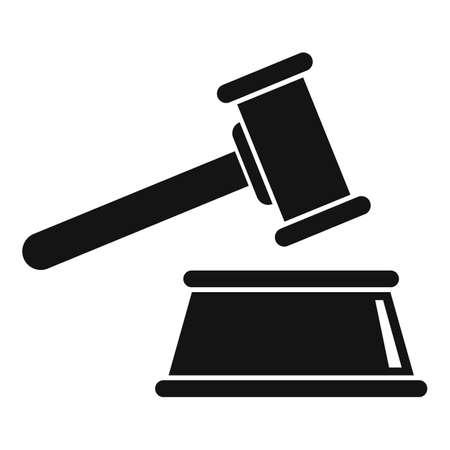 Judge gavel icon, simple style Stockfoto